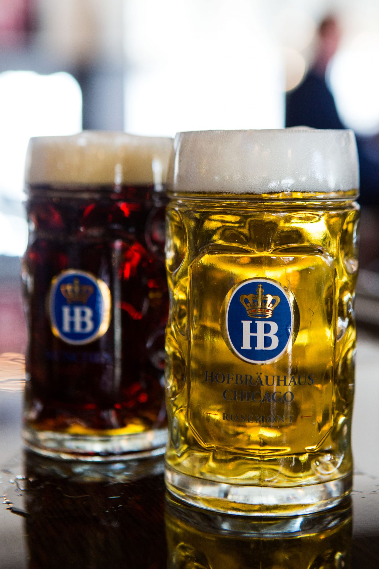 Hofbrauhaus beer selection