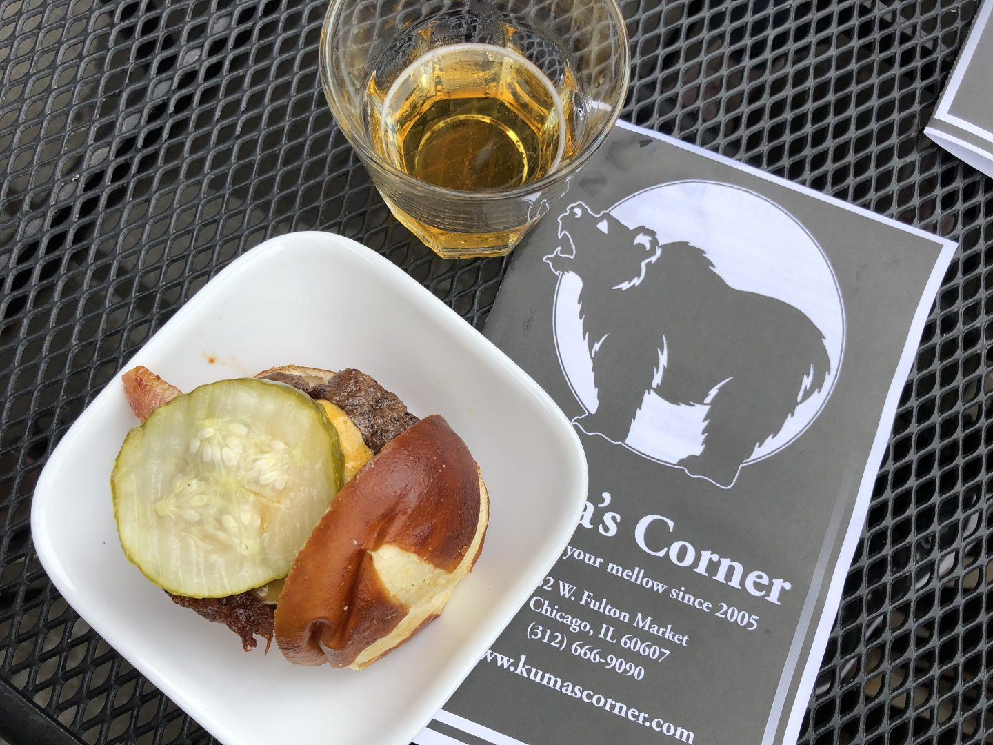 Kuma's Corner Burger and Beer Pairing